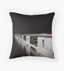 Merewether Baths - B&W Throw Pillow