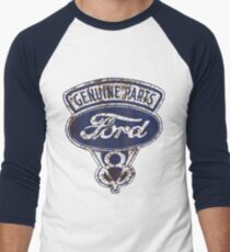 Oil Stained Ford Sign Men's Baseball ¾ T-Shirt