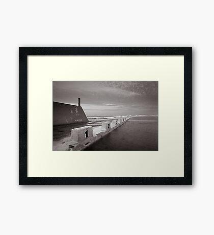Newcastle Ocean Baths - B&W  Framed Print