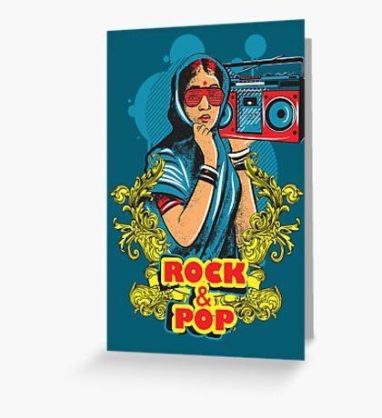 Rock N Pop Greeting Card