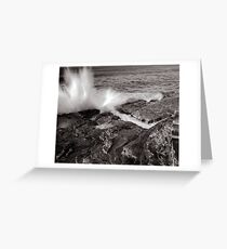 Bogie Hole - Black and White Greeting Card