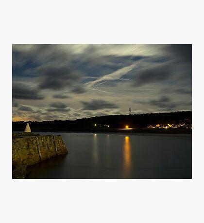 Douglas Quay & Braye at night Photographic Print