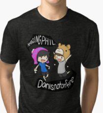 AmazingPhil and Danisnotonfire Tri-blend T-Shirt