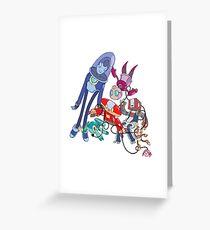 Robot Parade Greeting Card