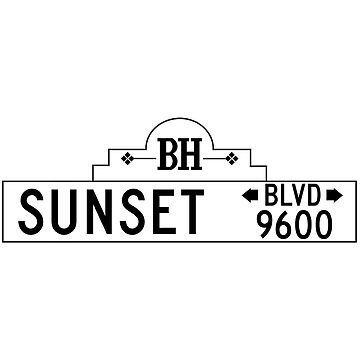 Sunset Boulevard, Street Sign, Los Angeles, CA by worldofsigns