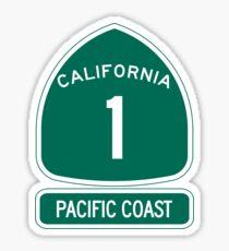 California 1 - Pacific Coast, Road Sign Sticker