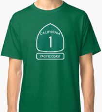 California 1 - Pacific Coast, Road Sign Classic T-Shirt
