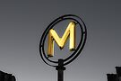 Metro sign in Paris (Yellow and Grey) by OlivierImages