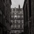 Woman on her balcony in Paris by OlivierImages