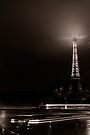 Eiffel Tower and cars, Paris, France by OlivierImages