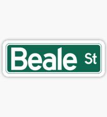 Pegatina Beale St., Street Sign, Memphis, TN