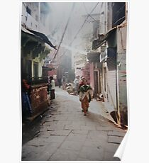 A Calcutta street scene Poster