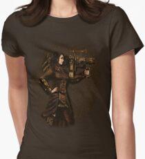 Steam Punk Girl Holding Antique Rocket Launcher T-Shirt