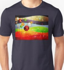 Colorful Background with Xmas Balls 5 T-Shirt
