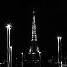 Eiffel Tower with liquified lights, Paris, France by OlivierImages