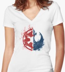 Choose your path Women's Fitted V-Neck T-Shirt