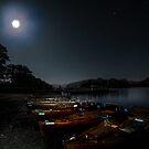 Night at Lake Derwent, Keswick 1 by George Crawford
