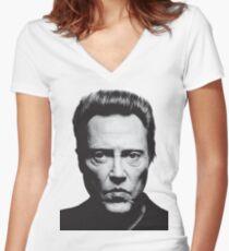 Walken Tailliertes T-Shirt mit V-Ausschnitt