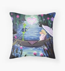 Kermit and Miss Piggy Romantic Cruise Throw Pillow