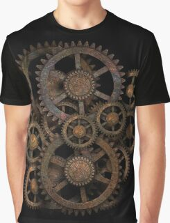 Infernal Vintage Steampunk Gears on your Gear Graphic T-Shirt