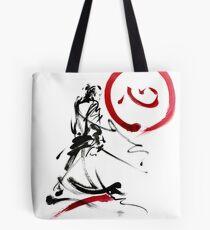 Samurai enso circle wild fury bushi bushido martial arts sumi-e  Tote Bag