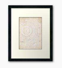 Greek Myth Family Spiral (Infographic) Framed Print