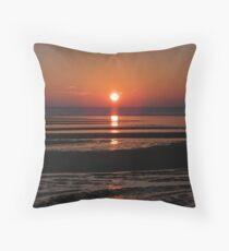 Low Tide Sunset 2 Throw Pillow