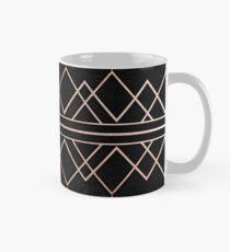 Chic & Elegant Faux Rose Gold Geometrische Dreiecke Tasse (Standard)