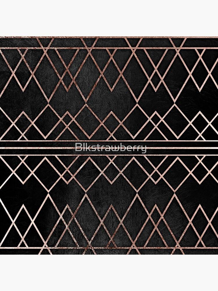 Elegante y elegante Faux Rose Gold Triángulos geométricos de Blkstrawberry