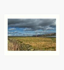 Dry stone walls and fields Art Print