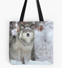 ...when a wolf cross your path ... ( see Large !! ) Tote Bag