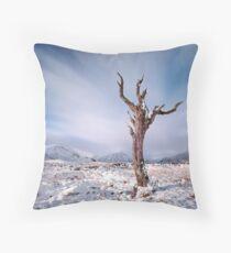 Rannoch moor tree Throw Pillow