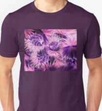 Abstract Purple Flowers T-Shirt