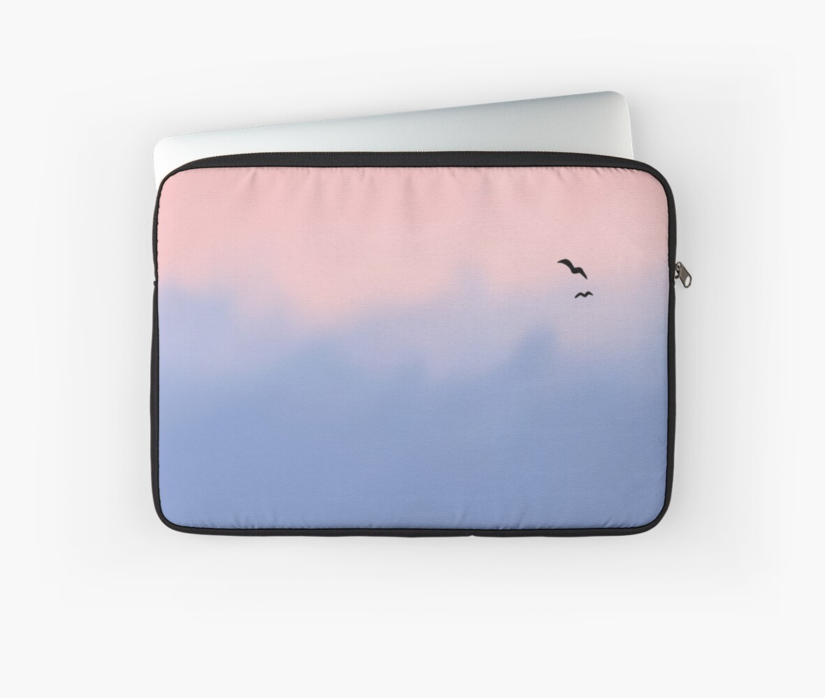 Rose Quartz And Serenity Sky Laptop Sleeves By Platypusdoodles