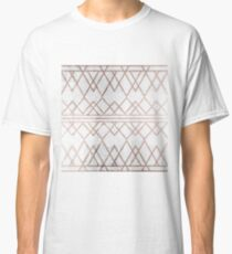 Chic Modern Faux Rose Gold Geometric Triangles Classic T-Shirt