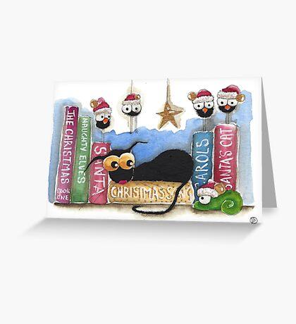 The Christmas shelf Greeting Card