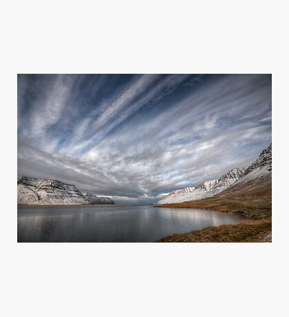 Crossed Clouds in Western Iceland Photographic Print