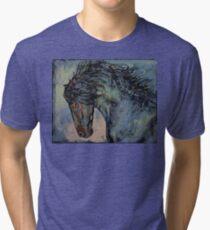 Friesian Stallion Tri-blend T-Shirt