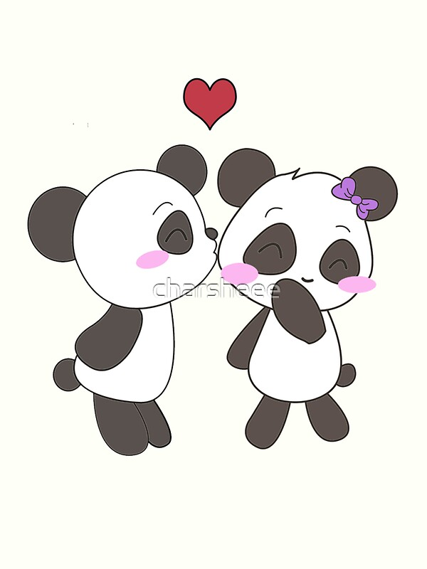 Animated Pandas In Love