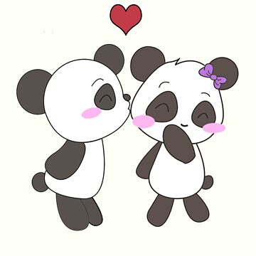 Panda Love!  by charsheee