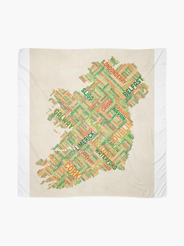 Alternative Ansicht von Irland Eire City Textkarte Tuch
