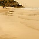 On North Burleigh beach by Murray Swift