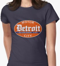 Vintage Detroit (Distressed Design) Womens Fitted T-Shirt