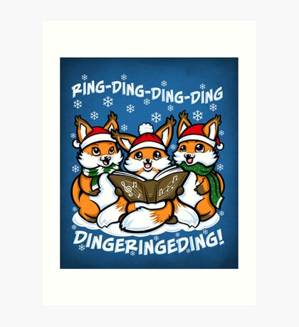 """""""What does the Fox Sing"""" Art Print"""