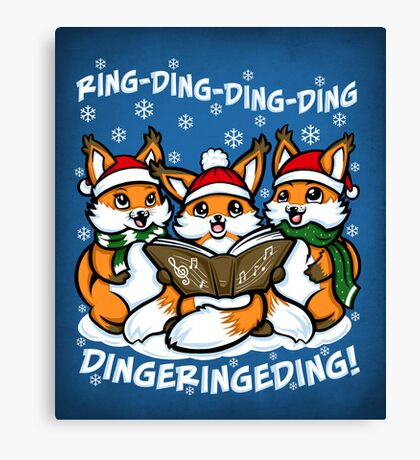 """""""What does the Fox Sing"""" Canvas Print"""