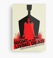 George A. Romero's Night of the Living Dead Movie Poster  Metal Print