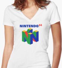 Nintendo 64 Women's Fitted V-Neck T-Shirt