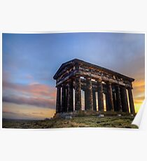 Penshaw Monument Sunset 3 Poster