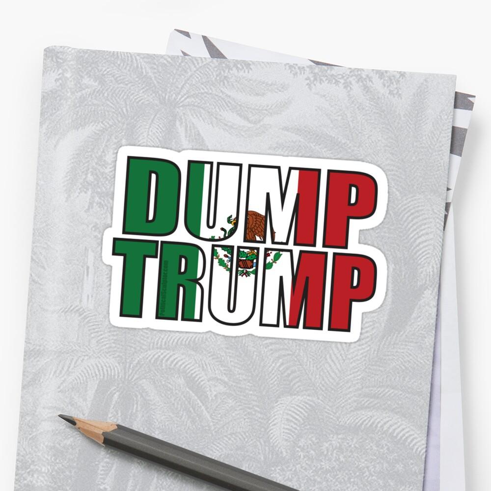 dump trump mexican flag