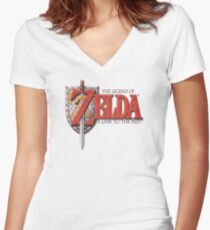 Zelda A Link to the Past Women's Fitted V-Neck T-Shirt